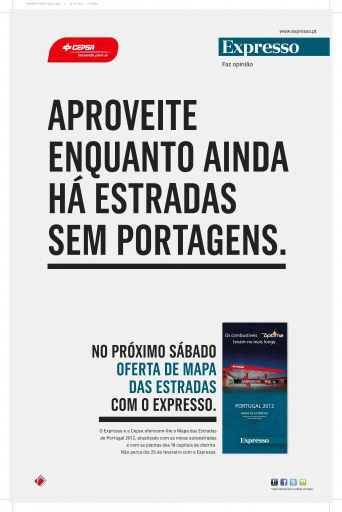 Mapa Das Estradas De Portugal Com O Expresso Meios Publicidade