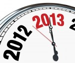2013 Clock Face  Time Ticking Down to Start of New Year