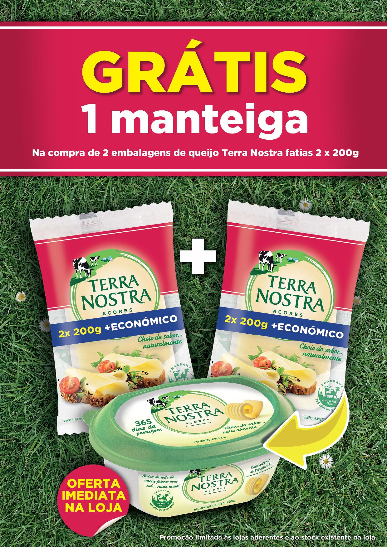 Promoção Manteiga Terra Nostra 365 dias de pastagem