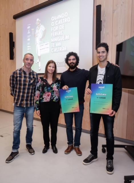 Vencedores Young Creatives ( Rodrigo Maciel _Sérgio Gomes)