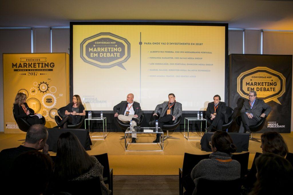 Carla Borges Ferreira (Meios&Publicidade), Fernanda Marantes (Havas Media), Nuno Amaral Frazão (Dentsu Aegis), Alberto Rui Pereira (IPG Mediabrands), Luis Mergulhão (Omnicom Media Group) e Manuel Falcão (Nova Expressão)