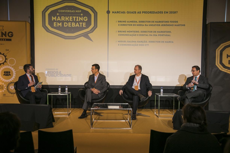 Rui Oliveira Marques (Meios&Publicidade), Bruno Almeida (Unilever Jerónimo Martins), Bruno Monteiro ( DIA Portugal) e Miguel Salema Garção (CTT)