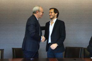 Luís Delgado (CEO da Trust in News) e Francisco Pedro Balsemão (CEO da Impresa)