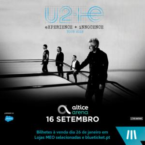 U2 na Altice Arena