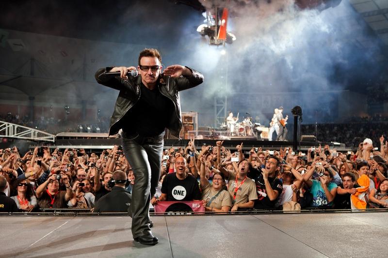 Coimbra, PORTUGAL: U2 performing live at Estadio Cidade de Coimbra in Coimbra, Saturday, Oct. 2, 2010.