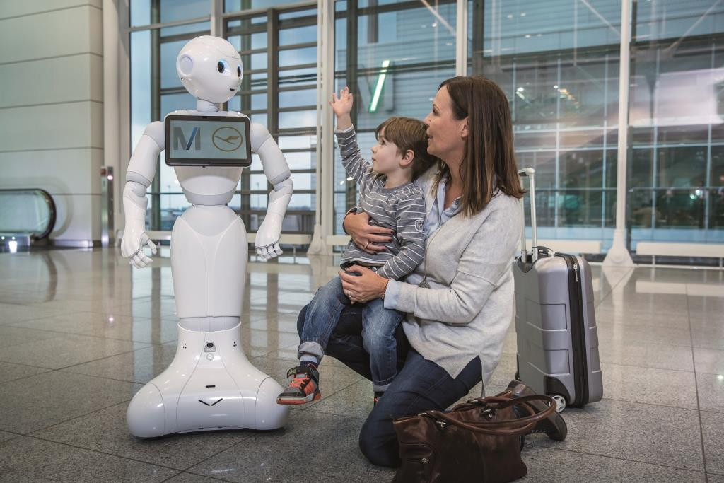 FMG,Pepper Roboter,Flughafen München