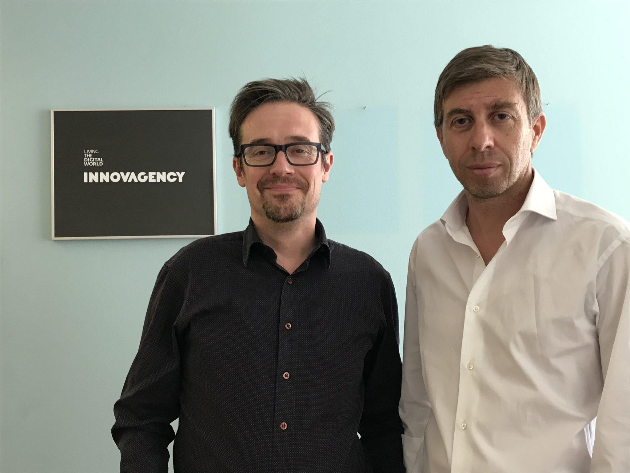 Antoine Blanchys, director-geral da Mediapost, e Pedro Lobo, CEO da Innovagency