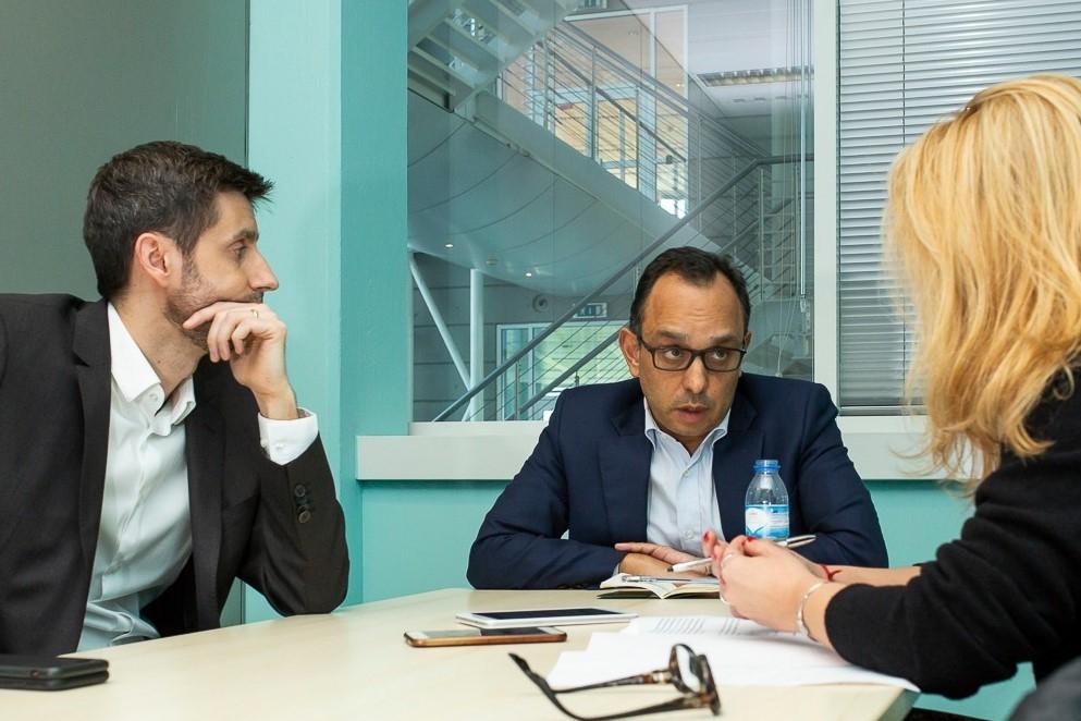 Daniel Oliveira e Ricardo Costa, directpores gerais de entretenimeno e informação do grupo Impresa
