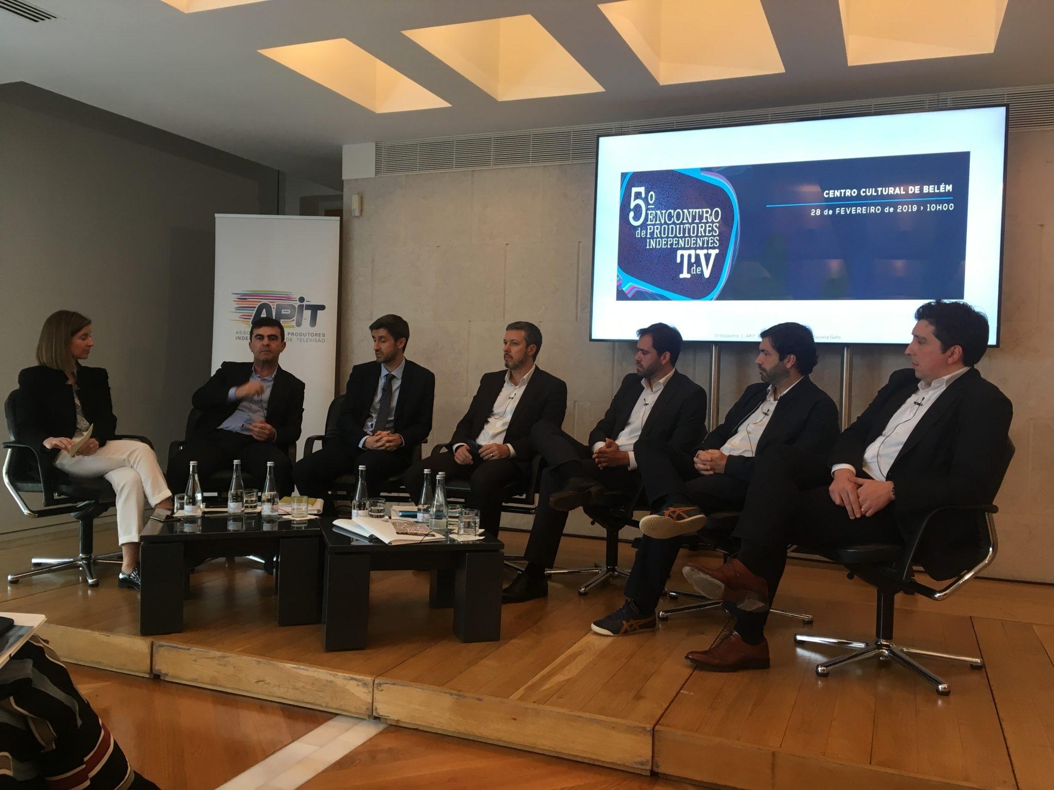José Fragoso (RTP), Daniel Oliveira (SIC), Bruno Santos (TVI), João Diogo Ferreira (NOS), Tiago Silva Lopes (Altice) e António Margato (Vodafone)