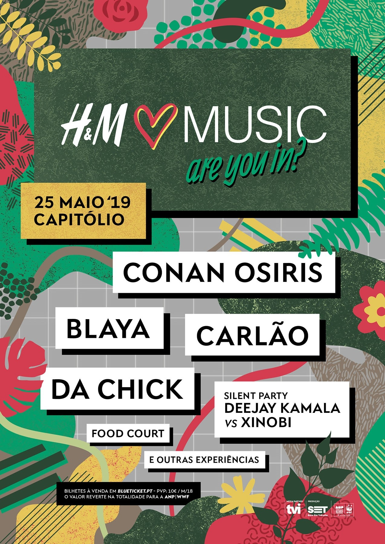 Cartaz H&M Loves Music