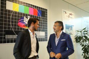 Francisco Pedro Balsemão (CEO da Impresa) e Alexandre Fonseca (presidente executivo da Altice)