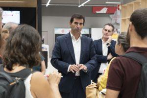 Pedro Cid, CEO da Auchan Retail Portugal, durante a apresentação da Auchan como insígnia única