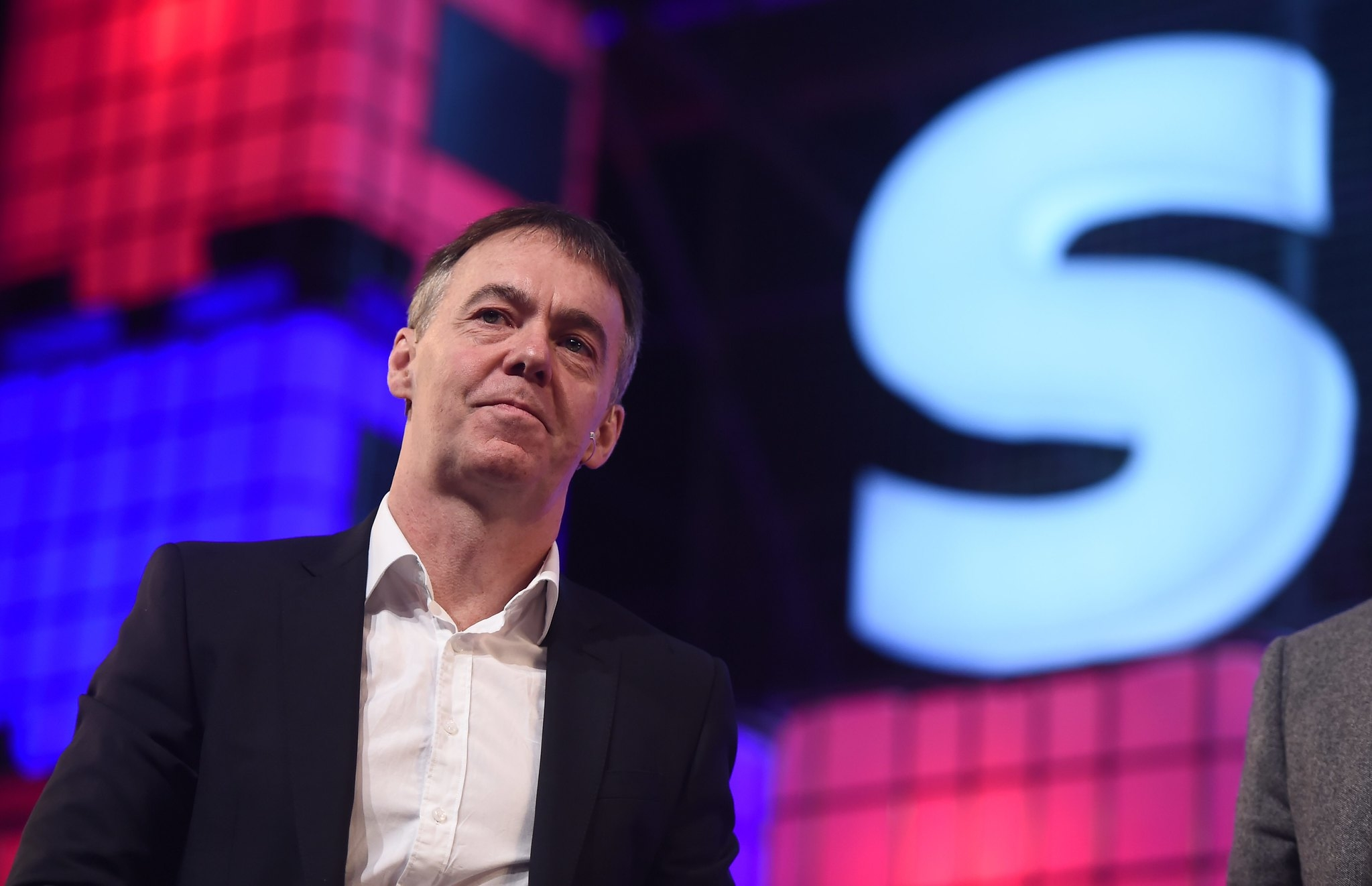 5 November 2015; Jeremy Darroch, CEO, Sky, on the Centre Stage during Day 3 of the 2015 Web Summit in the RDS, Dublin, Ireland. Picture credit: Stephen McCarthy / SPORTSFILE / Web Summit