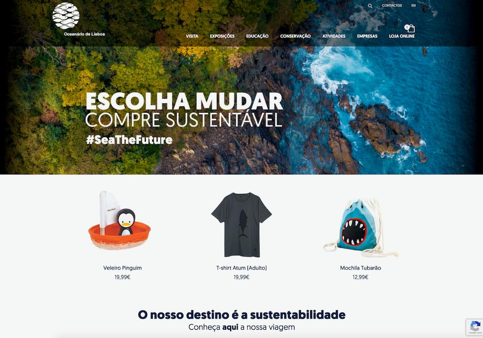 Loja online_Home page_Ocenário de Lisboa