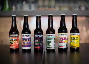 As 6 cervejas da Amphora com a nova imagem