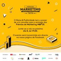Convite Prémios Marketing'20